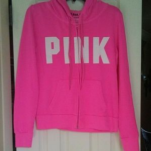 Vs PINK pink perfect full zip size small